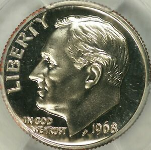 Click now to see the BUY IT NOW Price! 1968 NO S PROOF ROOSEVELT DIME PCGS PR68