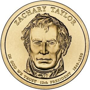 2009 ZACHARY TAYLOR PRESIDENT DOLLAR P OR D MINT 1 COIN BRILLIANT UNCIRCULATED