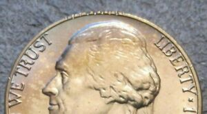 AS SHOWN   1976 D UNCIRCULATED JEFFERSON NICKEL WITH ERROR & FULL STEPS / MC 913