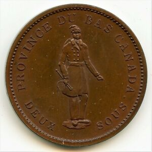 Click now to see the BUY IT NOW Price! BRETON 521 1837 QUEBEC BANK ONE PENNY TOKEN CH LC 9B1 COURTEAU 12B PCGS PROOF