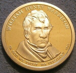AS SHOWN   2009 S CAMEO PROOF WILLIAM HENRY HARRISON DOLLAR // MC 201