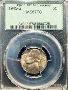 Click now to see the BUY IT NOW Price! 1945 S MS 67 FS PCGS CERTIFIED TONED