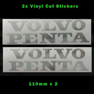 VOLVO PENTA Stickers Sticker in New Brushed Steel Vinyl 110mm x 2  - EUR 5.72