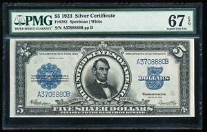 Click now to see the BUY IT NOW Price! FR.282 1923 $5 SILVER CERTIFICATE PMG67 EPQ SUPERB GEM