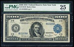 Click now to see the BUY IT NOW Price! FR.1132 B 1918 $500 FEDERAL RESERVE NOTE PMG25 HIGH DENOMINATION