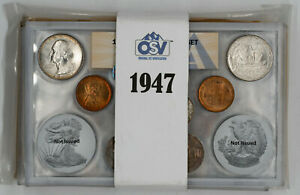 Click now to see the BUY IT NOW Price! 1947 P / D / S DOUBLE MINT SET OSV ANACS MINT STATE UNC P64.93 / D65.28 / S64.54