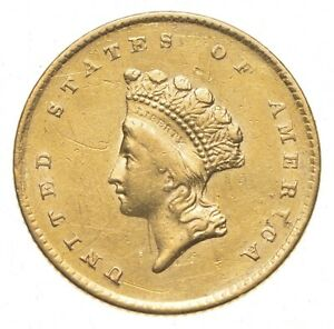 1855 $1.00 INDIAN PRINCESS HEAD GOLD DOLLAR  0392