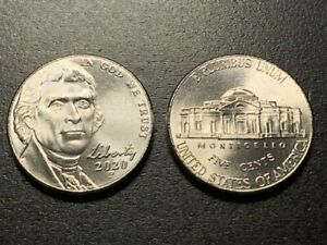 2020 P NICKLE BU FROM MINT  1 COIN