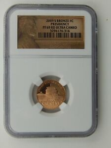 2009 S BRONZE LINCOLN PRESIDENCY CENT NGC PF 69 ULTRA CAMEO  513