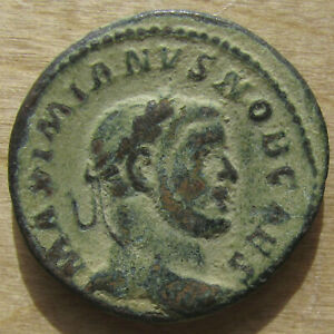 Click now to see the BUY IT NOW Price! GALERIUS GENIO POPVLI ROMANI FOLLIS FROM TRIER   BEAUTIFUL SAND PATINA