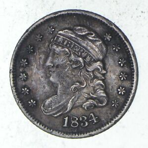 1834 CAPPED BUST HALF DIME   SHARP  9313