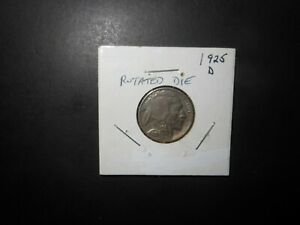 1925 D BUFFALO NICKEL VF NICE DETAILS ROTATED REVERSE ERROR   SEE PICTURES.