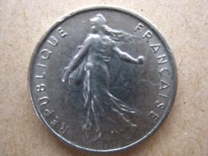 FRENCH COIN 1972 HALF FRANC CIRCULATED