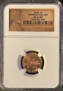 2009 P 1C PROFESSIONAL LIFE GRADED MS 66 RD BY NGC