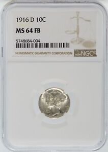 Click now to see the BUY IT NOW Price! 1916 D MERCURY SILVER DIME NGC MS64 FB FULL BANDS 10C COIN DENVER   JJ892