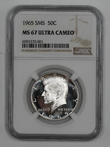 Click now to see the BUY IT NOW Price! 1965 SMS KENNEDY HALF DOLLAR 50C NGC MS 67 MINT UNC   ULTRA CAMEO  001