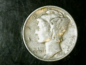 1943 P MERCURY DIME 10C   NICE OLD COIN   90  SILVER US DIME