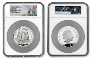 Click now to see the BUY IT NOW Price! 2020 UK THE GREAT ENGRAVERS THREE GRACES NGC 5 OZ SILVER PF70 UC FIRST RELEASES