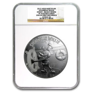 Click now to see the BUY IT NOW Price! 2015 NIUE KILO SILVER $100 DISNEY STEAMBOAT WILLIE PF 70 UCAM NGC   SKU 89526