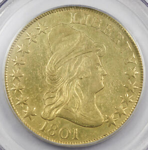 UNITED STATES 1801 CAPPED BUST $10 HERALDIC EAGLE PCGS CERTIFIED EARLY GOLD COIN