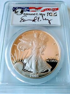 Click now to see the BUY IT NOW Price! 2003 W PROOF SILVER EAGLE PCGS PR70DCAM ED MOY SIGNATURE POPULATION  135