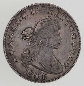 1806 DRAPED BUST HALF DOLLAR   HERALDIC EAGLE REVERSE   CIRCULATED  7193