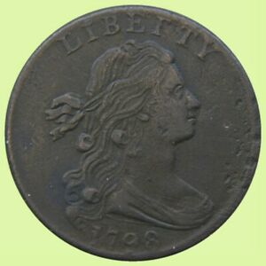 1798 DRAPED BUST LARGE CENT   2ND HAIR STYLE |    FINE    742