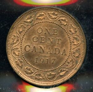 1917 CANADA ONE CENT   ICCS MS 63 RED   XDW 563