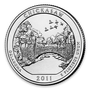 2011 P AMERICA THE BEAUTIFUL 5OZ SILVER COIN   CHICKASAW NATIONAL REC. AREA