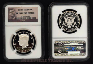 2012 S SILVER 50 CENT KENNEDY NGC PF70 ULTRA CAMEO GEM PROOF; PORTRAIT LABEL