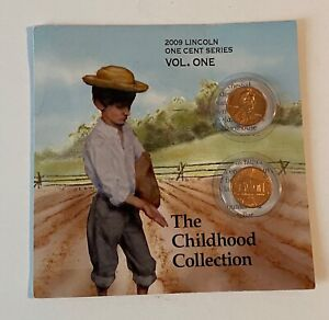 2009 LINCOLN BICENTENNIAL PENNY  BOOKLET VOL. 1 CHILDHOOD UNCIRCULATED