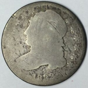 1832 10C CAPPED BUST DIME AG UNCERTIFIED