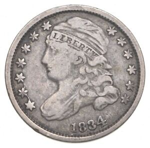 1834 CAPPED BUST DIME  0211