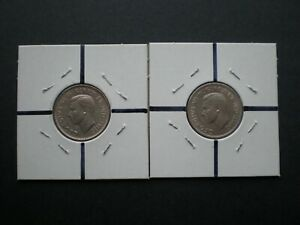 1939 & 1940 5 CENTS   PAIR ROTATED DIE