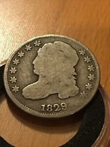 1829 CAPPED BUST DIME  LARGE 10C VARITY  NICE CONDITON COIN