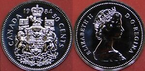 PROOF LIKE 1984 CANADA 50 CENTS FROM MINT'S SET