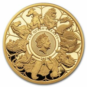 Click now to see the BUY IT NOW Price! 2021 GB PROOF 10 OZ GOLD QUEEN'S BEASTS COLLECTOR  BOX & COA    SKU232183