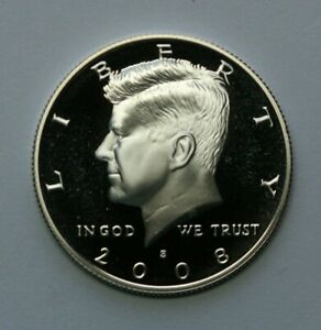 2008 S KENNEDY HALF DOLLAR 90  SILVER GEM DCAM PROOF CONDITION US COIN