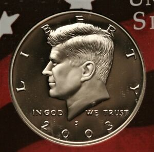 2003 S KENNEDY HALF DOLLAR 90  SILVER GEM DCAM PROOF CONDITION US COIN