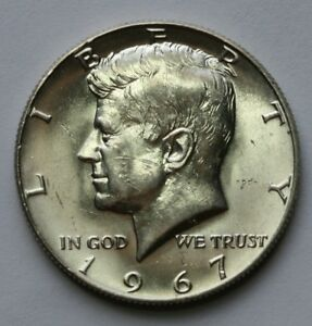 1967 KENNEDY HALF DOLLAR UNCIRCULATED UNC CONDITION 40  SILVER US COIN