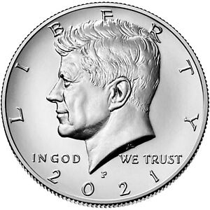 2021 P&D U.S. KENNEDY HALF DOLLAR UNCIRCULATED  IN STOCK  SET OF 2 COINS