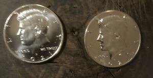 2021 P AND D KENNEDY HALF DOLLARS FROM U.S. MINT BAG 2 COINS UNCIRCULATED
