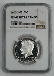 Click now to see the BUY IT NOW Price! 1965 SMS KENNEDY HALF DOLLAR 50C NGC CERTIFIED MS 67 ULTRA DEEP CAMEO  004