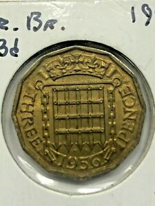 1956 GREAT BRITAIN 3 PENCE COIN 276