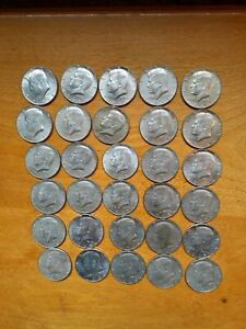 KENNEDY HALF DOLLARS 40  SILVER  TOTAL OF 30 EACH MIXED DATES. 1966 1969