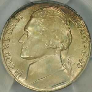 Click now to see the BUY IT NOW Price! 1943/2 P JEFFERSON NICKEL PCGS MS67 FS   POP 1/0 FINEST KNOWN