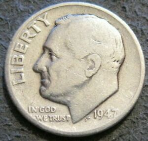 AS SHOWN   1947 P ROOSEVELT DIME // 90  SILVER // 195