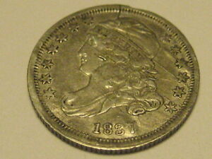 1837 CAPPED BUST DIME EF 40 DETAIL