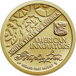 2018 INAUGURAL SIGNED FIRST PATENT AMERICAN INNOVATION DOLLAR 1 COIN BU