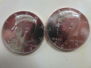 2019 P AND D KENNEDY HALF DOLLARS UNCIRCULATED FROM MINT BAGS/ROLLS